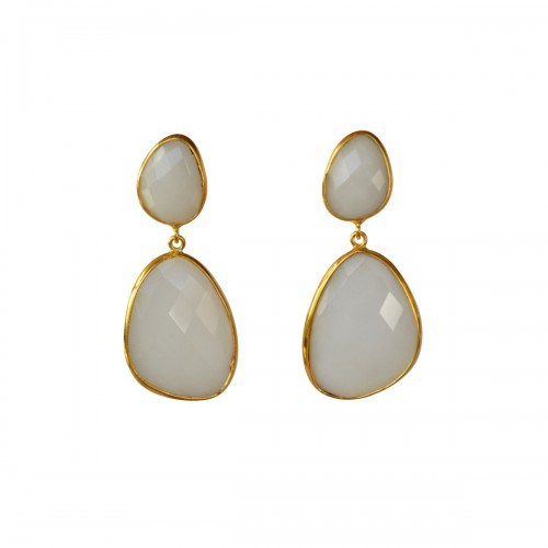 Doble Drop Camelia Earrings
