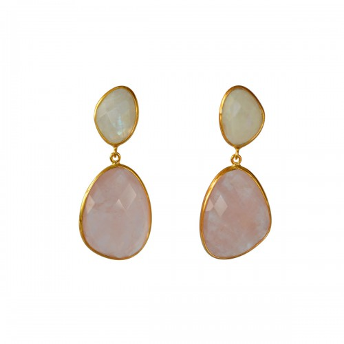Doble Drop Celestina Earrings
