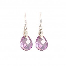 Elena Amethyst Earrings