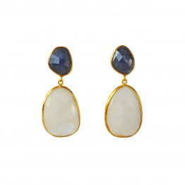 Doble Drop Celesta Earrings