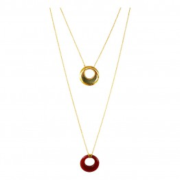 Collier Ines Onix Rouge