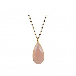 Collier Myra Doré Quartz Rose