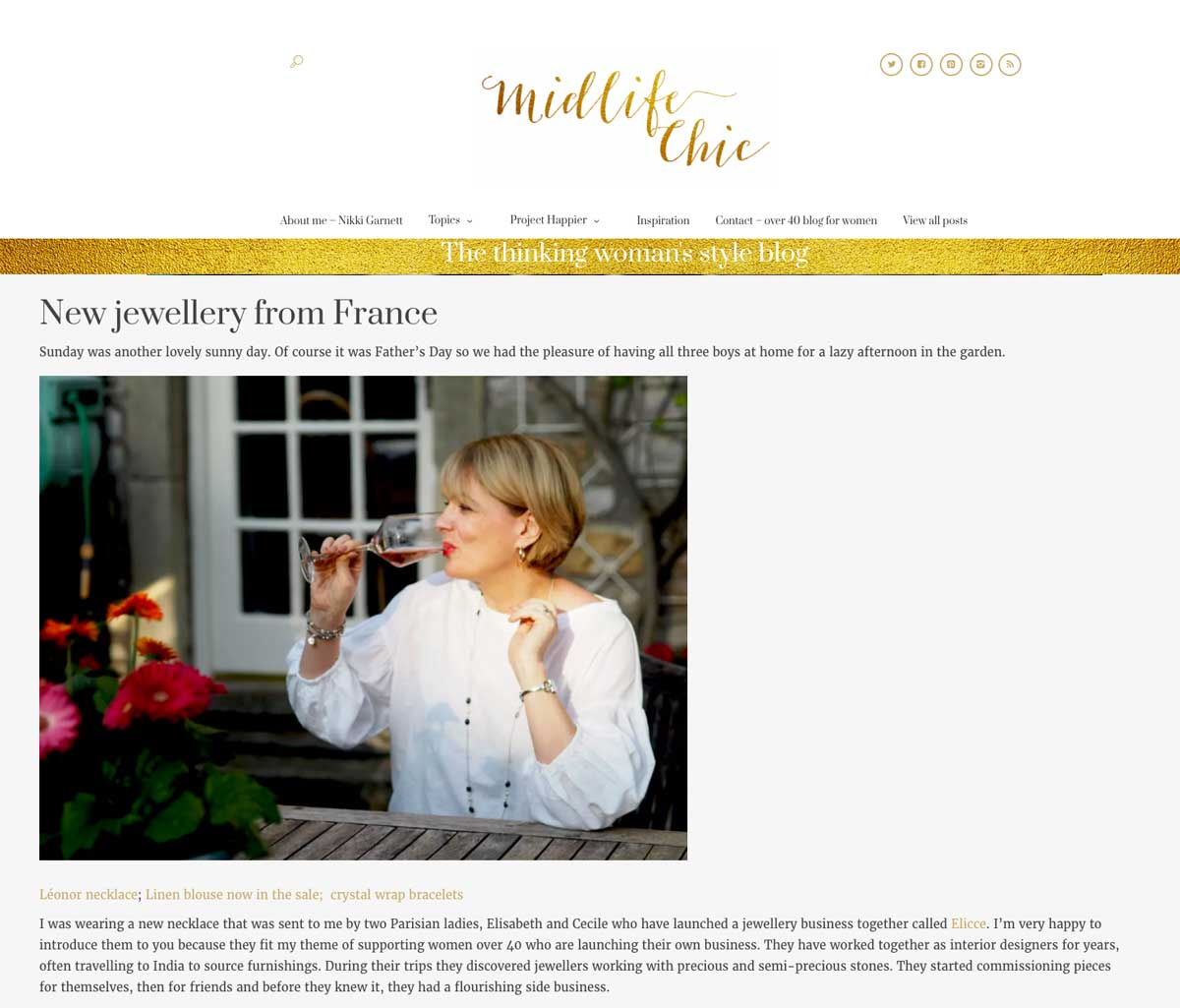 Midlife Chic recommends Elicce Jewelry